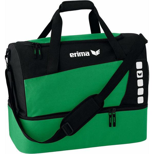 Erima Club 5 (Medium) Sporttas Met Bodemvak - Groen / Zwart