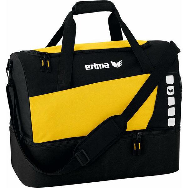 Erima Club 5 (Large) Sac De Sport Avec Compartiment Inférieur - Jaune / Noir
