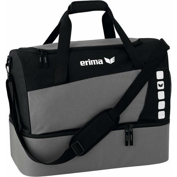 Erima Club 5 (Medium) Sac De Sport Avec Compartiment Inférieur - Granit / Noir