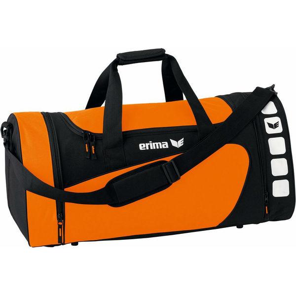 Erima Club 5 (M) Sac De Sport Avec Poches Latérales - Orange / Noir