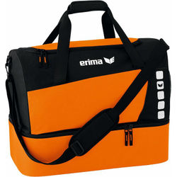 Erima Club 5 (Small) Sporttas Met Bodemvak - Oranje / Zwart