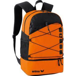 Erima Club 5 Sac À Dos Multifonction Avec Compartiment Inférieur - Orange / Noir