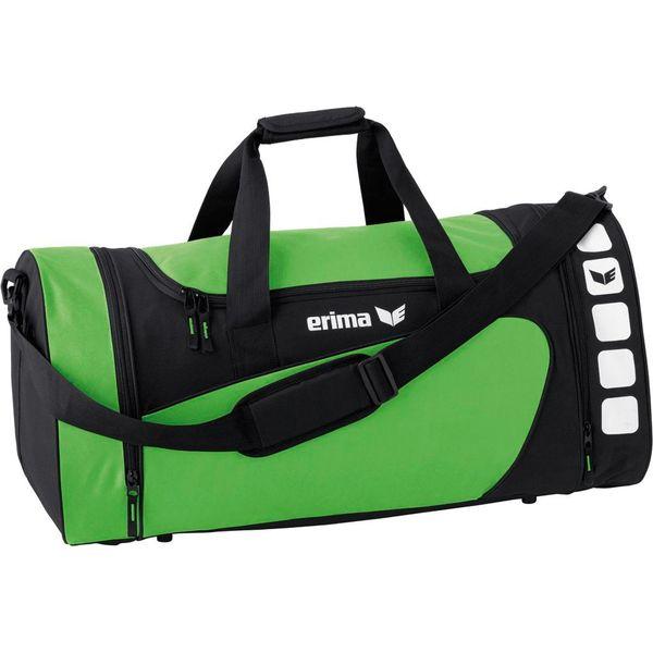 Erima Club 5 (L) Sac De Sport Avec Poches Latérales - Noir / Green