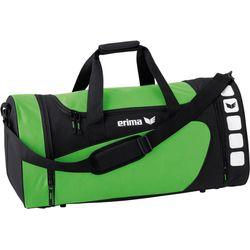 Erima Club 5 (L) Sporttas Met Zijvakken - Zwart / Green