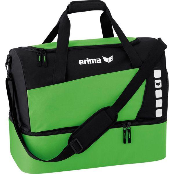 Erima Club 5 (Small) Sporttas Met Bodemvak - Zwart / Green