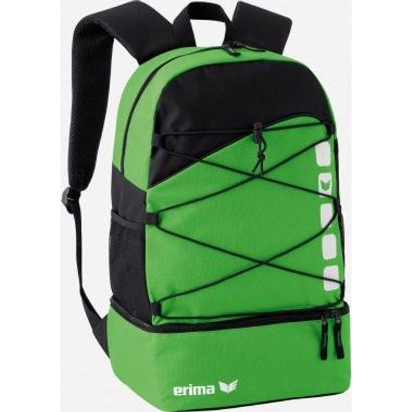 Erima Club 5 Sac À Dos Multifonction Avec Compartiment Inférieur - Green / Noir
