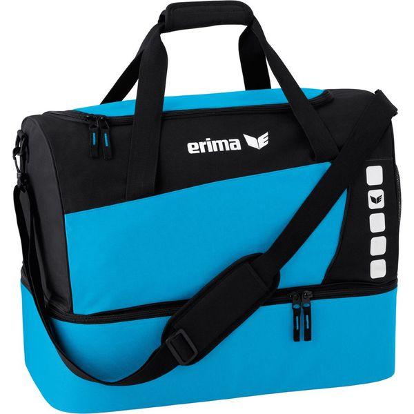 Erima Club 5 (Small) Sporttas Met Bodemvak - Curaçao / Zwart