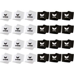 Erima 24 Paar Elastique Velcro Pour Protège-Tibias - Blanc / Noir