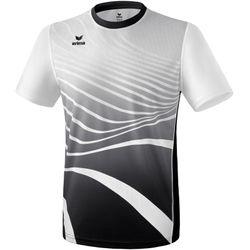Erima Atletiek T-Shirt - Zwart / Wit