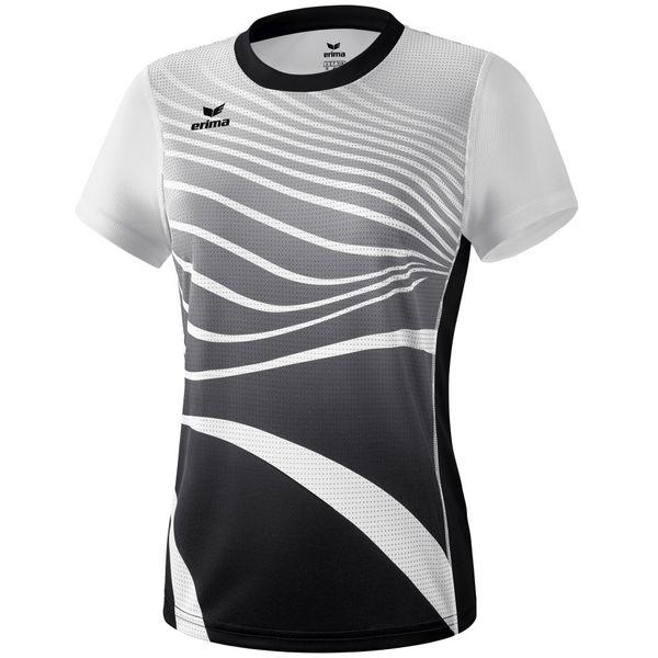 Erima Atletiek T-Shirt Dames - Zwart / Wit