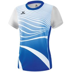 Erima Atletiek T-Shirt Dames - New Royal / Wit