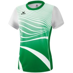 Erima Atletiek T-Shirt Dames - Smaragd / Wit
