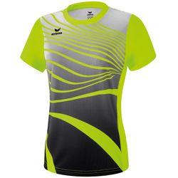 Erima Atletiek T-Shirt Dames - Fluogeel / Zwart