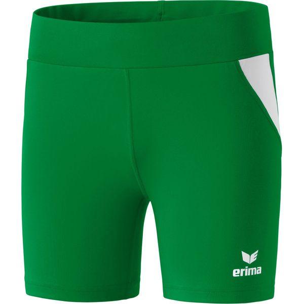 Erima Atletiek Short Tight Dames - Smaragd / Wit