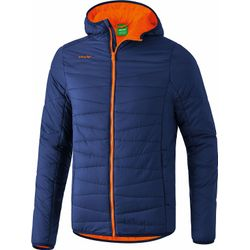 Erima Veste Stepp Hommes - New Navy / Orange Fire