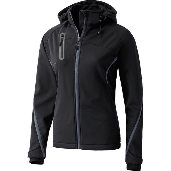 Erima Function Softshell Jack Dames - Antraciet / Zwart