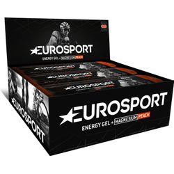 Eurosport Nutrition Energy Gel Met Magnesium Perzik 20 Stuks - Zwart