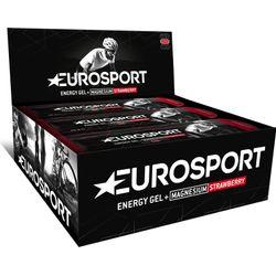 Eurosport Nutrition Energy Gel Met Magnesium Aardbei 20 Stuks - Zwart