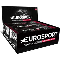 Eurosport Nutrition Energy Gel Met Cafeïne Framboos 20 Stuks - Zwart