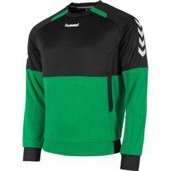 Hummel Authentic Top Round Neck Heren - Groen / Zwart