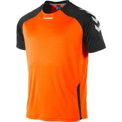 Hummel Aarhus Shirt Korte Mouw Heren - Fluo Oranje / Zwart