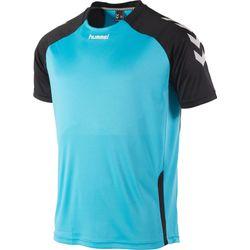 Hummel Aarhus Shirt Korte Mouw Heren - Aqua Blue / Zwart
