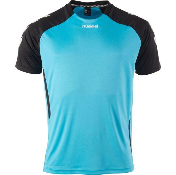 Hummel Aarhus Shirt Korte Mouw - Aqua Blue / Zwart