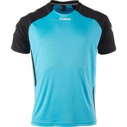 Voorvertoning: Hummel Aarhus Shirt Korte Mouw - Aqua Blue / Zwart