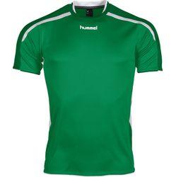Voorvertoning: Hummel Preston Shirt Korte Mouw Kinderen - Groen / Wit