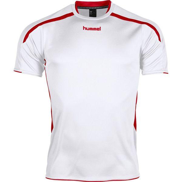 Hummel Preston Shirt Korte Mouw Kinderen - Wit / Rood
