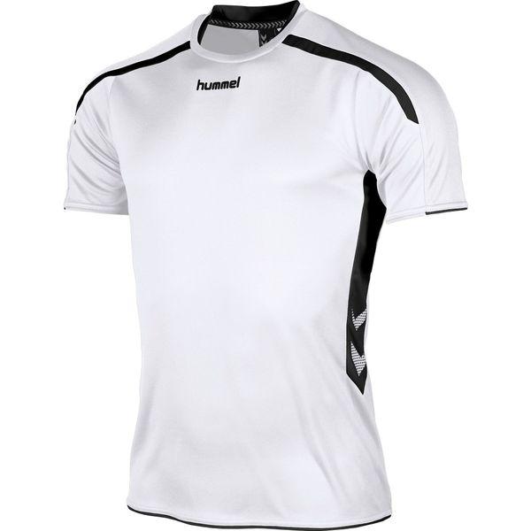 Hummel Preston Shirt Korte Mouw Kinderen - Wit / Zwart