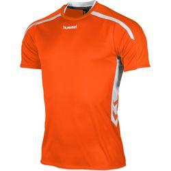 Hummel Preston Shirt Korte Mouw - Oranje / Wit
