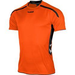 Hummel Preston Shirt Korte Mouw Heren - Oranje / Zwart