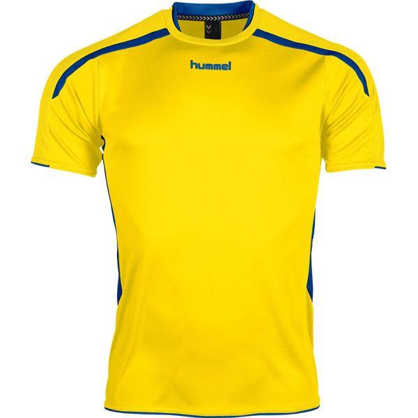 Hummel Preston Shirt Korte Mouw Kinderen - Geel / Royal