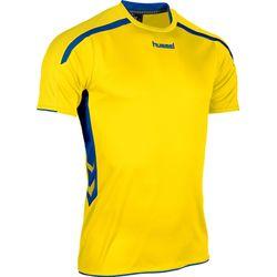 Voorvertoning: Hummel Preston Shirt Korte Mouw Kinderen - Geel / Royal