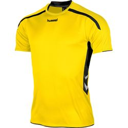 Hummel Preston Shirt Korte Mouw - Geel / Zwart