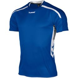 Hummel Preston Shirt Korte Mouw Kinderen - Royal / Wit