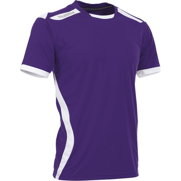 Hummel Club Shirt Korte Mouw Heren - Paars / Wit