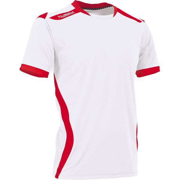 Hummel Club Maillot Manches Courtes Hommes - Blanc / Rouge