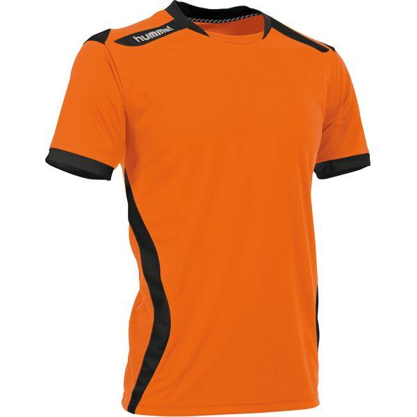 Hummel Club Shirt Korte Mouw Kinderen - Oranje / Zwart