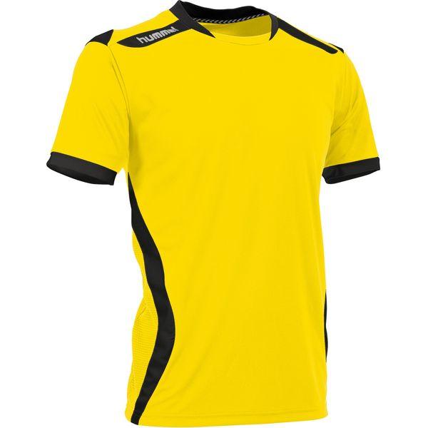 Hummel Club Shirt Korte Mouw Heren - Geel / Zwart