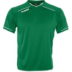 Hummel Leeds Shirt Korte Mouw Heren - Groen / Wit