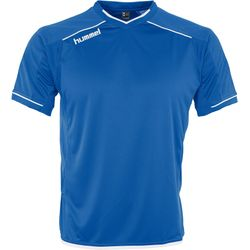 Hummel Leeds Shirt Korte Mouw Heren - Royal / Wit