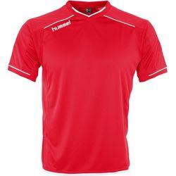 Hummel Leeds Shirt Korte Mouw Heren - Rood / Wit