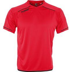Hummel Leeds Shirt Korte Mouw Heren - Rood / Zwart