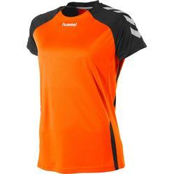 Hummel Aarhus Shirt Korte Mouw Dames - Fluo Oranje / Zwart