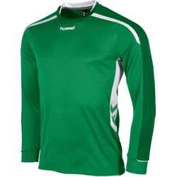 Hummel Preston Voetbalshirt Lange Mouw - Groen / Wit