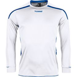 Voorvertoning: Hummel Preston Voetbalshirt Lange Mouw Kinderen - Wit / Royal