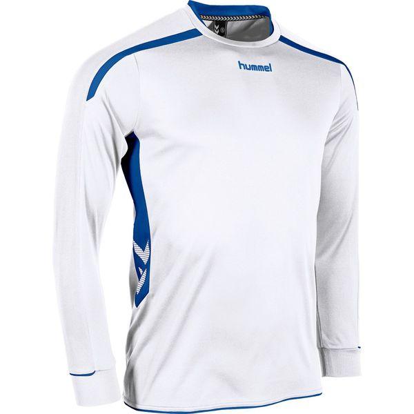 Hummel Preston Voetbalshirt Lange Mouw Kinderen - Wit / Royal