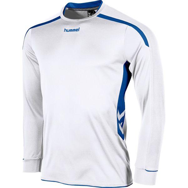 Hummel Preston Voetbalshirt Lange Mouw - Wit / Royal